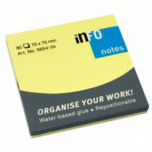 INFO STICKY NOTES YELLOW 75X75MM 80SHEETS