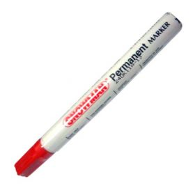 SNOWMAN PERMANENT MARKER RED
