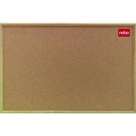 NOBO OAK TRIM CORK BOARD 450X600MM