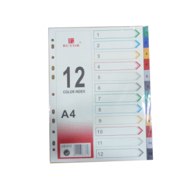 BUYOR INDEX FILE DIVIDER 1-12