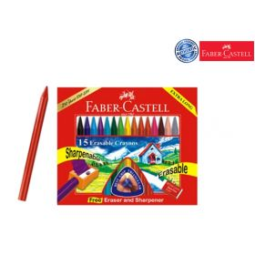 FABER CASTELL ERASABLE CRAYONS 110MM
