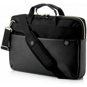 HP DUOTONE  BRIEFCASE BLACK/GOLD  15.6""