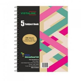 VISTALINE 5 SUBJECT BOOK 200 SHEETS
