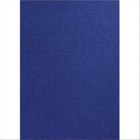 LEATHER GRAIN A4 BINDING COVER DARK BLUE
