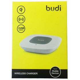 BUDI WIRELESS CHARGER  2USB PORT