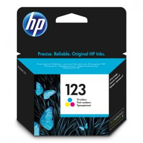 HP 123 TRI-COLOR INK CARTRIDGE F6V16AE