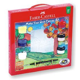 FABER CASTELL PAINT YOUR OWN ART CANVAS  KIT