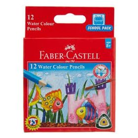 FABER CASTELL WATER SOLUBLE COLOR PENCILS HALF LENGTH