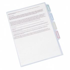 EAGLE 5 INDEX DIVIDER CLEAR FOLDER