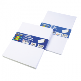 SINARLINE WHITE POCKET ENVELOPE 12X10