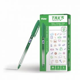 VISTA TRX3 PEN GREEN 12PCS/PACK