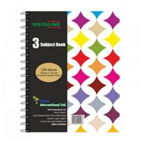 VISTALINE 3 SUBJECT NOTE  BOOK 120 SHEETS